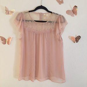 Adiva Blush Pink Blouse